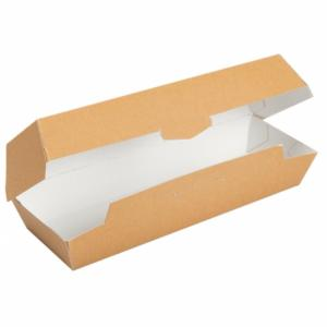 "50 boites ""hot dog"" jetables carton 21 x 6.5 x 6 cm"
