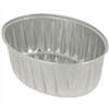 100 ramequins jetables aluminium ovales 260 ml