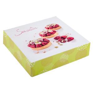 50 boites pâtissières carton colorées 18 x 5 cm